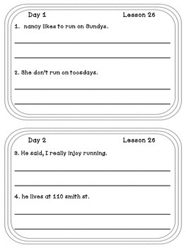 Unit 6 Daily Proofreading and Language Practice (DLP) for 3rd Grade Journeys