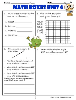 angles review pdf grade 6