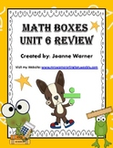 Unit 6 Division & Angles Math Boxes Review 4th Grade