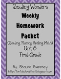 Unit 6 First Grade Homework Packet- McGraw Hill Reading Wonders