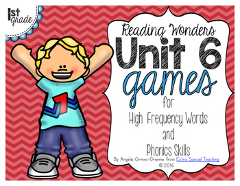 Unit 6 Games for Reading Wonders Grade 1