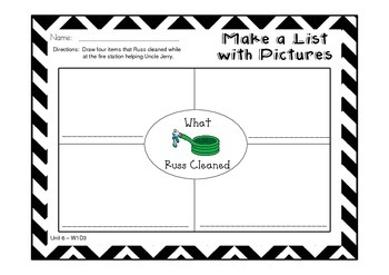 Unit 6 Graphic Organizers and More to Follow Treasures {Neighborhood}