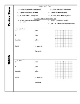 Unit 6 Guided Notes - Logarithms and Exponentals
