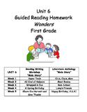 Unit 6 Guided Reading Homework WONDERS Grade 1