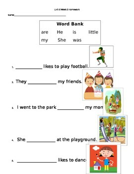 Unit 6 High Frequency Words