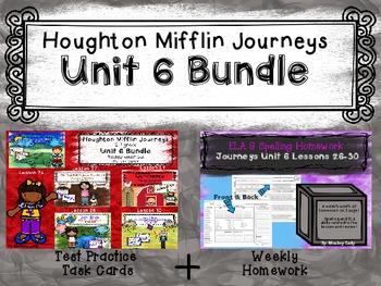 Unit 6 Houghton Mifflin Journeys MEGA BUNDLE (Homework & Question Task Card)