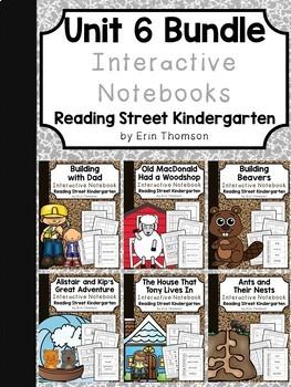 Unit 6 Interactive Notebooks Bundle ~ Reading Street Kindergarten