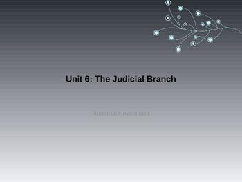 Unit 6: Judicial Branch Bundle
