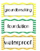 Unit 6 Kindergarten Reading Street Focus Wall Weeks 1-6 Chevron