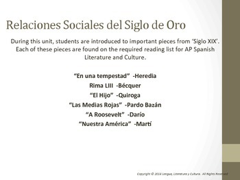 Unit 6 - Lecturas del Siglo XIX AP Spanish Literature and Culture