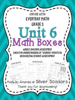 Unit 6 Math Boxes - Third Grade