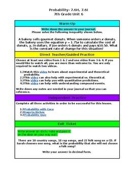Unit 6- Probability- 7th Grade Hyperdoc