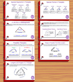 Unit 6– Properties of Triangles; Summary Sheets