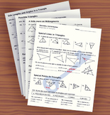 Unit 6– Properties of Triangles; Unit Review Packet & Key