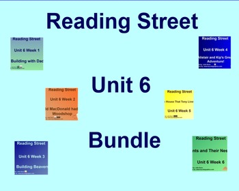 Unit 6 Bundle Common Core Edition SmartBoard Companion Kindergarten