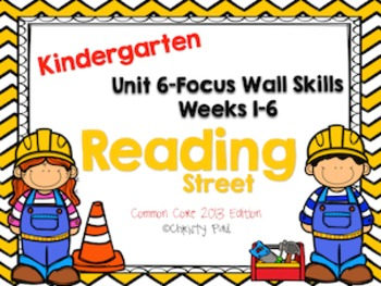 Unit 6 Reading Street Kindergarten Focus Wall
