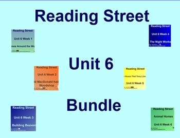 Unit 6 Bundle SmartBoard Companion Kindergarten