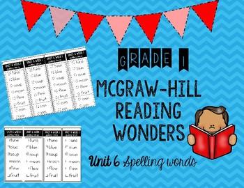 Wonders Unit 6 Spelling Words