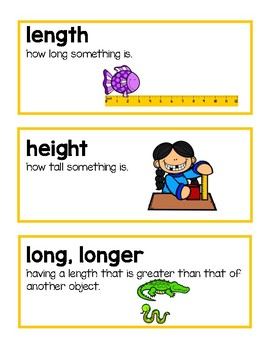 Unit 6 Ready Math Vocabulary Cards for Kindergarten