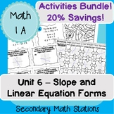 Unit 6 (Slope and Linear Equation Forms) Activities Bundle!