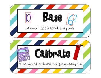 Unit 6 Vocabulary, Everyday Mathematics 5th Grade