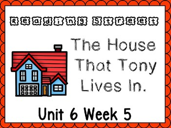 Unit 6 Week 5 PowerPoint The House That Tony Lives In Reading Street