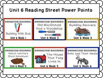 Unit 6 Weeks 1-6 PowerPoint Bundle Reading Street Kindergarten