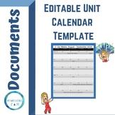 Unit Six Weeks Calendar AUGUST - MAY