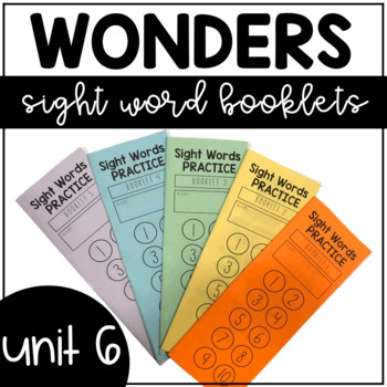 Unit 6 Wonders Sight Words Booklet