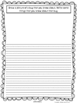 Unit 6 Writing Journal Prompts Macmillan/McGraw-Hill Treasures First Grade