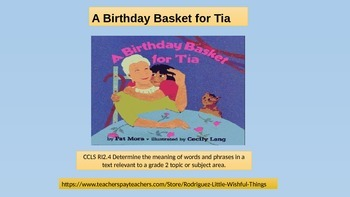 Unit 6 story 3 Birthday Basket for Tia