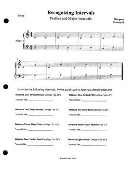 Unit 7 Addendum - Intervals and Chords Listening, Student and Teacher
