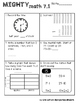 Unit 7 Challenge Math Boxes for Everyday Math 4,1st grade
