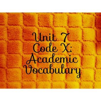 Unit 7 Code X Academic Vocabulary Little Rock Nine