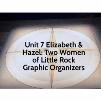 Unit 7 Code X Graphic Organizers Elizabeth and Hazel: Two Women of Little Rock