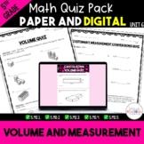 Volume and Measurement Quiz Bundle - Digital and Paper