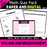 Volume and Measurement Quiz Bundle - Digital and Paper