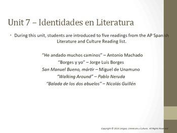 Unit 7 - Identidades en Literatura - AP Spanish Literature and Culture