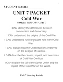 Unit 7 Packet- The Cold War