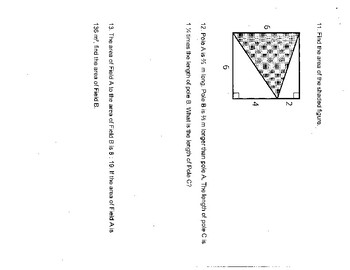 Singapore / Primary Mathematics Grade 5 Unit 7 Practice Test Review with Key