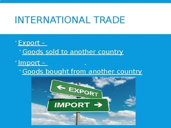 Unit 7 Bundle -- Trade Interdependence and Globalization