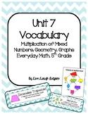 Unit 7 Vocabulary, Everyday Mathematics 5th Grade