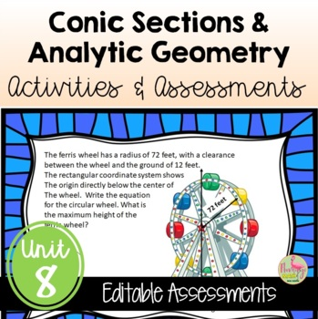 PreCalculus: Analytic Geometry Review & Assessment Bundle