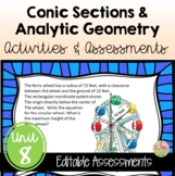 Analytic Geometry Activities and Assessments (PreCalculus