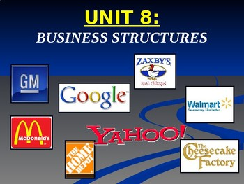Unit 8: Business Organizations Lecture