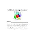 Unit 8 Everyday Math Message Notebook