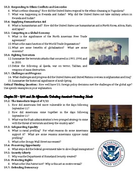 Unit 8 Guided Reading Questions - The Making of Modern America