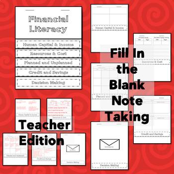 3rd Grade Lesson Plans Financial Literacy 3.9A 3.9B 3.9C 3.9D 3.9E 3.9F