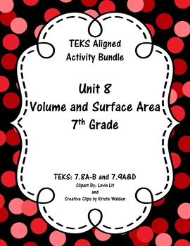 Unit 8 - Volume and Surface Area - Activities - 7th Grade Math TEKS