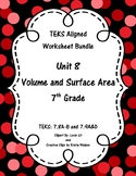Unit 8 - Volume and Surface Area - Worksheets - 7th Grade Math TEKS